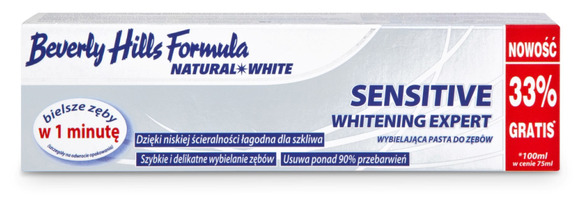 Beverly Hills Formula NATURAL WHITE Sensitive whitening expert